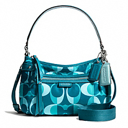 COACH F26022 - DAISY DREAM C PRINT CROSSBODY SILVER/TEAL MULTI