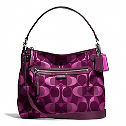 COACH F26023 - DAISY DREAM C PRINT CONVERTIBLE HOBO SILVER/BERRY MULTICOLOR