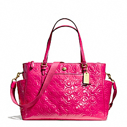 COACH F26030 Peyton Op Art Embossed Patent Multifunction Tote