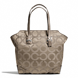 COACH F26031 Taylor Op Art North/south Tote SILVER/FLINT