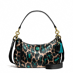 COACH F26032 Signature Stripe Ocelot Print Demi Crossbody