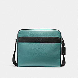 CHARLES CAMERA BAG IN COLORBLOCK - f26077 - SLATE/BLACK/BLACK ANTIQUE NICKEL