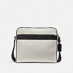 CHARLES CAMERA BAG IN COLORBLOCK - f26077 - CHALK/BLACK/BLACK ANTIQUE NICKEL