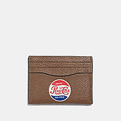COACH F26087 Slim Card Case With Pepsi® Motif SADDLE