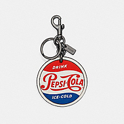 COACH F26092 Pepsi® Key Fob CHALK