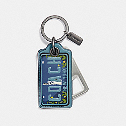 COACH F26097 - AMERICAN DREAMING BOTTLE OPENER KEY FOB SLATE