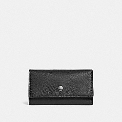 COACH F26100 Four Ring Key Case BLACK