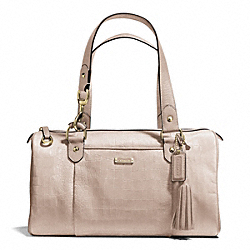 AVERY EMBOSSED CROC LARGE SATCHEL - f26123 - BRASS/STONE