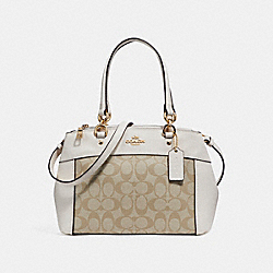 MINI BROOKE CARRYALL - f26139 - LIGHT GOLD/LIGHT KHAKI