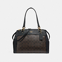 LARGE BROOKE CARRYALL - f26140 - LIGHT GOLD/BROWN