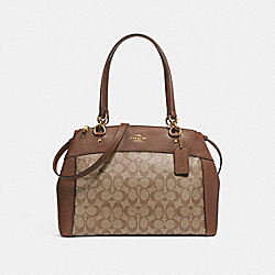 LARGE BROOKE CARRYALL - f26140 - LIGHT GOLD/KHAKI