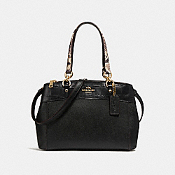MINI BROOKE CARRYALL - f26143 - LIGHT GOLD/BLACK MULTI