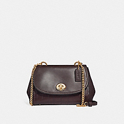 FAYE CROSSBODY - f26145 - LIGHT GOLD/OXBLOOD 1
