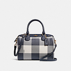 COACH F26146 Mini Bennett Satchel MIDNIGHT MULTI/LIGHT GOLD