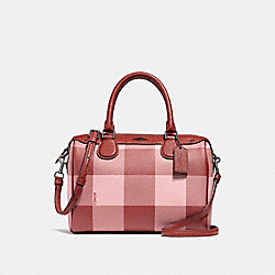 MINI BENNETT SATCHEL - f26146 - BLUSH MULTI/BLACK ANTIQUE NICKEL