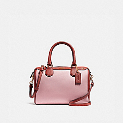 MINI BENNETT SATCHEL IN COLORBLOCK - f26153 - BLUSH/TERRACOTTA/LIGHT GOLD