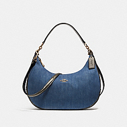 COACH F26157 - EAST/WEST HARLEY HOBO DENIM MULTI/LIGHT GOLD