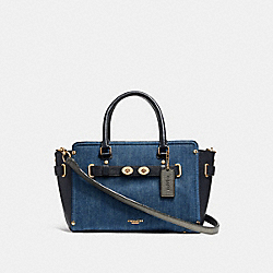 COACH F26160 - BLAKE CARRYALL 25 DENIM MULTI/LIGHT GOLD