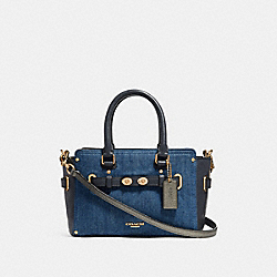COACH F26162 - MINI BLAKE CARRYALL DENIM MULTI/LIGHT GOLD