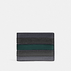COACH F26171 Slim Billfold Wallet With Varsity Stripe MIDNIGHT NAVY/FOREST/BLACK ANTIQUE NICKEL