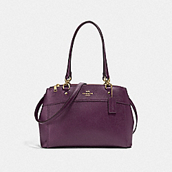 COACH F26174 - BROOKE CARRYALL METALLIC RASPBERRY/LIGHT GOLD