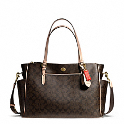 COACH F26181 - PEYTON SIGNATURE MULTIFUNCTION TOTE ONE-COLOR