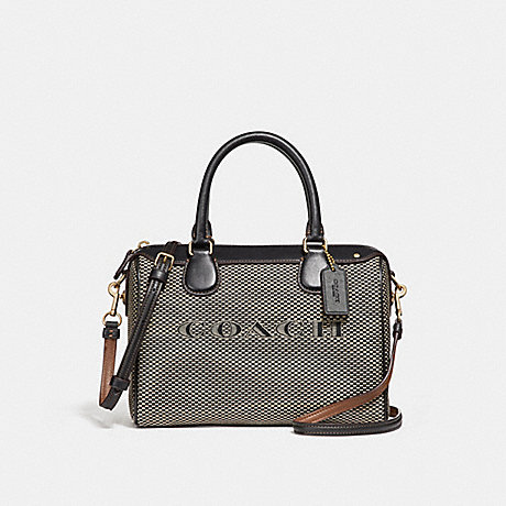 COACH f26199 MINI BENNETT SATCHEL MILK/BLACK/LIGHT GOLD