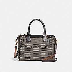MINI BENNETT SATCHEL - f26199 - MILK/BLACK/LIGHT GOLD