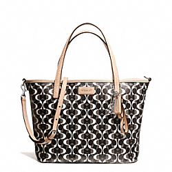 COACH F26201 - PARK METRO DREAM C SMALL TOTE SILVER/BLACK/WHITE/BLACK