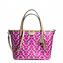 COACH F26201 - PARK METRO DREAM C SMALL TOTE SILVER/BRIGHT MAGENTA/TAN