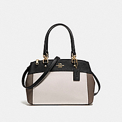 MINI BROOKE CARRYALL IN COLORBLOCK - f26205 - LIGHT GOLD/CHALK