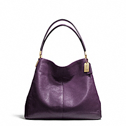 COACH F26224 Madison Leather Small Phoebe Shoulder Bag LIGHT GOLD/BLACK VIOLET