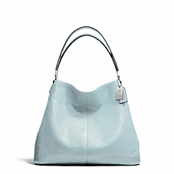 COACH F26224 Madison Leather Small Phoebe Shoulder Bag SILVER/SEA MIST
