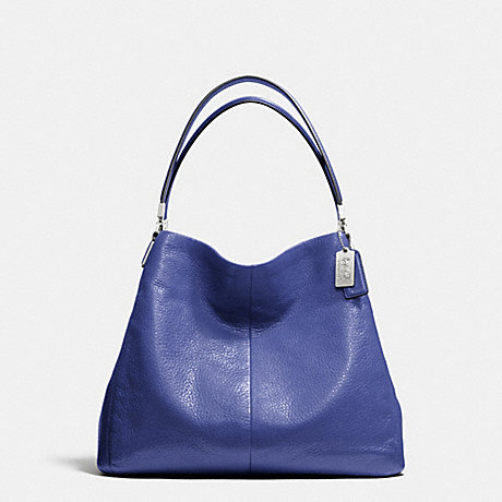 COACH F26224 MADISON LEATHER SMALL PHOEBE SHOULDER BAG SILVER/LACQUER-BLUE