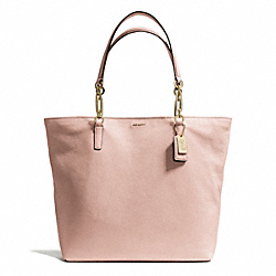 COACH F26225 Madison North/south Tote In Leather  LIGHT GOLD/PEACH ROSE