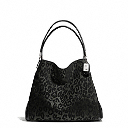 COACH F26283 Madison Chenille Ocelot Small Phoebe Shoulder Bag