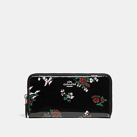 brand new 84680 a6ffb COACH F26294 - ACCORDION ZIP WALLET WITH CROSS STITCH FLORAL ...