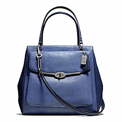 COACH F26321 Madison North/south Satchel In Lizard Embossed Leather