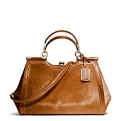 COACH F26342 Madison Mixed Haircalf Carrie Satchel LIGHT GOLD/ORANGE SPICE