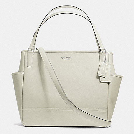 COACH F26353 SAFFIANO LEATHER BABY BAG TOTE -ANTIQUE-NICKEL/SOFT-IVY