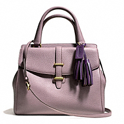 COACH F26384 Pebbled Leather North/south Satchel