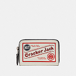 COACH F26395 Zip Around Coin Case With Cracker Jack® Motif CHALK MULTI/SILVER