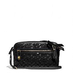 COACH F26435 Poppy Sequin Signature C Flight Bag