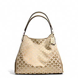 COACH F26448 Madison Small Phoebe Shoulder Bag In Op Art Sateen Fabric