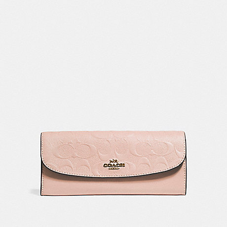 7f3096fb57214 COACH F26460 - SOFT WALLET IN SIGNATURE LEATHER - NUDE PINK LIGHT ...