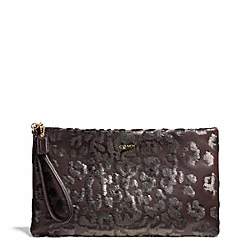 COACH F26480 - MADISON ZIP CLUTCH IN SEQUIN OCELOT ONE-COLOR