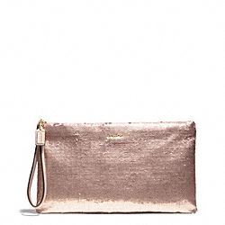 COACH MADISON ZIP CLUTCH IN SEQUINS - ONE COLOR - F26484