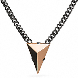 SHORT PYRAMID SPIKE NECKLACE - f26518 - BLACK