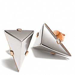 COACH SMALL PYRAMID STUD EARRINGS - ONE COLOR - F26537