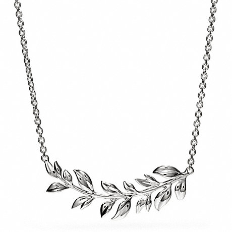 COACH f26548 STERLING LEAVES NECKLACE